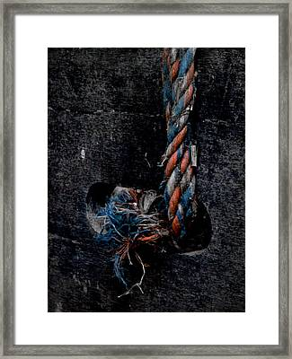 Frayed Framed Print