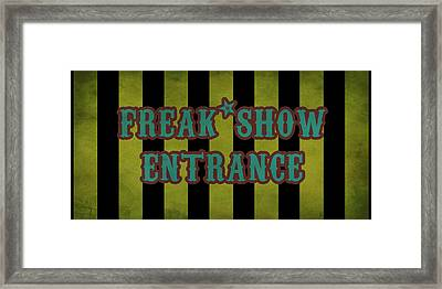 Freak Show Entrance Framed Print by Jera Sky