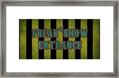 Freak Show Entrance Framed Print