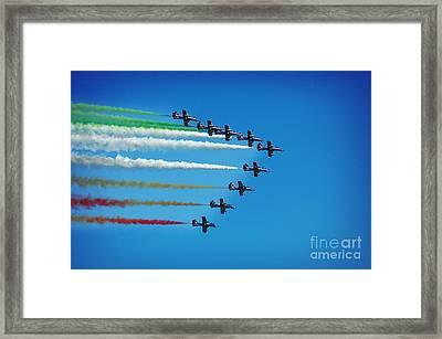 Frecce Tricolori Aerobatics Team Framed Print by Stefano Senise