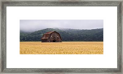 Framed Print featuring the photograph Frechman Barn - Summer by Wayne Meyer