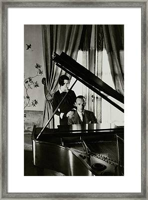 Fred And Adele Astaire At A Piano Framed Print