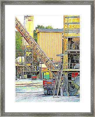 Fred And Barney At Work The Quarry At Ashcom Pa Framed Print by Mary Beth Landis