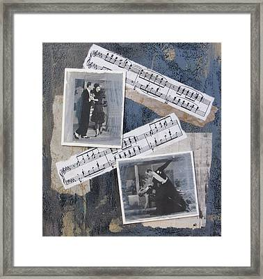 Fred And Ginger Collage Framed Print by Anita Burgermeister