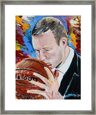Fred Hoiberg  Framed Print by Jon Baldwin  Art