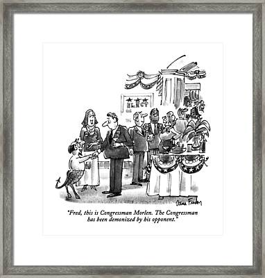 Fred, This Is Congressman Morlen Framed Print