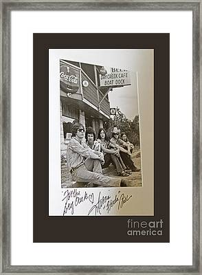Freda And The Firedogs - Autographed Vintage Photo Framed Print