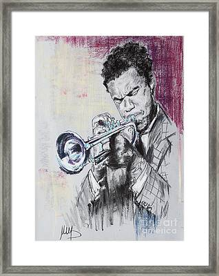 Freddie Hubbard Framed Print by Melanie D