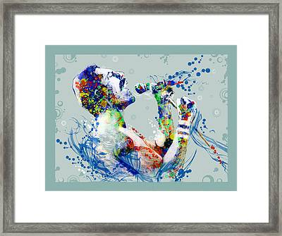 Freddie Mercury 10 Framed Print by Bekim Art