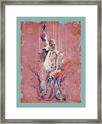 Freddie Mercury 11 Framed Print by Bekim Art
