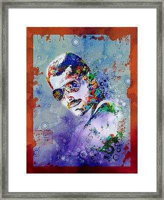 Freddie Mercury 12 Framed Print by Bekim Art