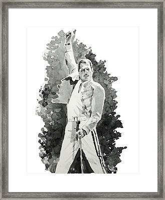 Freddie Mercury 2 Framed Print by Bekim Art