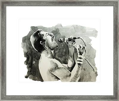 Freddie Mercury 8 Framed Print by Bekim Art