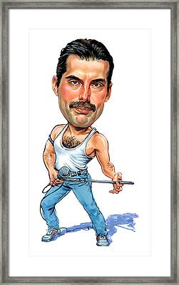 Freddie Mercury Framed Print by Art