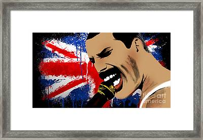 Freddie Mercury Framed Print by Mark Ashkenazi