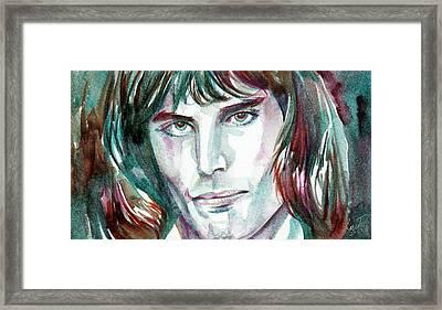 Freddie Mercury Portrait.2 Framed Print by Fabrizio Cassetta