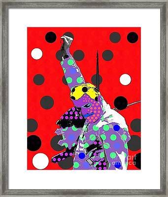 Freddie Mercury Framed Print by Ricky Sencion