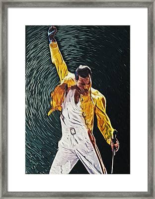 Freddie Mercury Framed Print by Taylan Apukovska