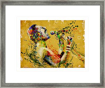 Freddie Mercury Vintage 2 Framed Print by Bekim Art
