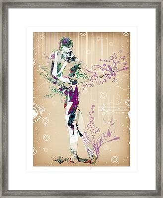 Freddie Mercury Vintage Framed Print by Bekim Art