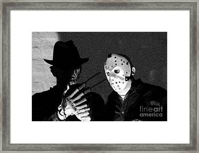 Freddy And Jason Framed Print by John Gaffen