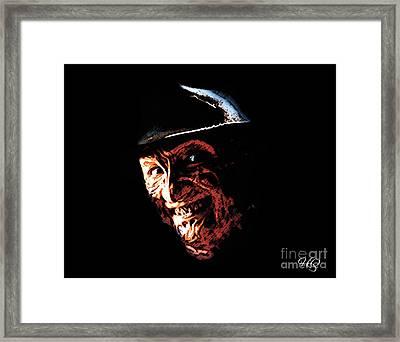 Freddy Kruger Framed Print by Horacio Chaverri