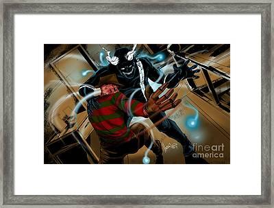 Freddy Vs Jibber Jabber Framed Print