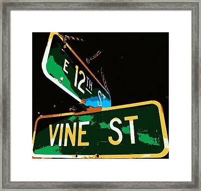 12th Street And Vine Framed Print by Chris Berry