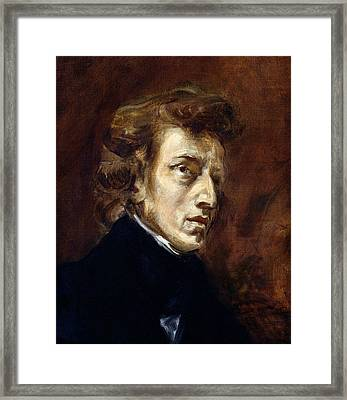 Frederic Chopin  Framed Print by Ferdinand Victor Eugene Delacroix