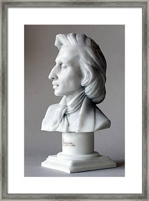 Frederic Chopin Bust Framed Print by Andrew Szczepaniec SETTA
