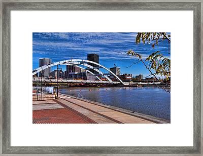 Frederick Douglas-susan B Anthony Bridge Rochester Ny Framed Print