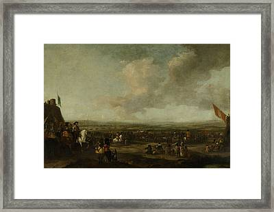 Frederick Henry At The Surrender Of Maastricht Framed Print by Litz Collection