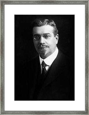 Frederick W. Zerban Framed Print by Williams Haynes Portrait Collection, Chemists� Club Archives/chemical Heritage Foundation