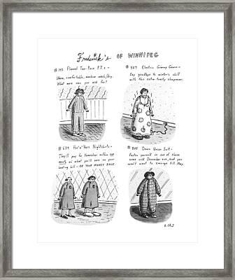 Frederick's Of Winnipeg Framed Print