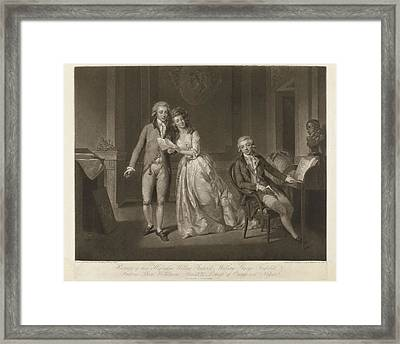 Frederika Louisa Wilhelmina, Princess Van Oranje-nassau Framed Print by John Raphael Smith And Tischbein And A.c. De Poggi