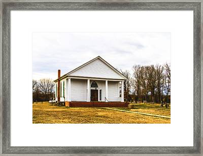 Fredonia Church And Cemetery Framed Print by Barry Jones