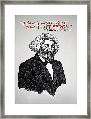 Fredrick Douglass Framed Print by Sushobha Jenner