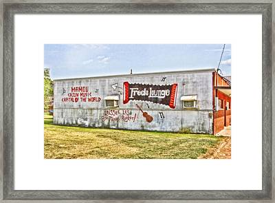Fred's Lounge Framed Print