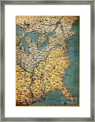 Free And Slave States Of America, C Framed Print
