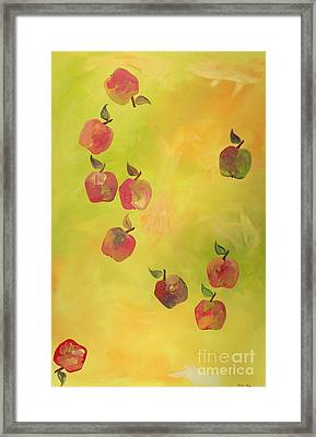 Free Apples Framed Print by PainterArtist FIN