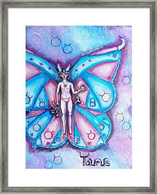 Free As A Taurus Framed Print by Shana Rowe Jackson