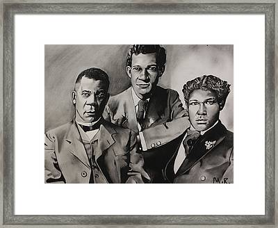 Free At Last... Booker T. Washington And Sons Framed Print