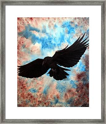 Framed Print featuring the painting Free Bird by Oddball Art Co by Lizzy Love