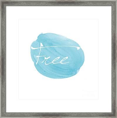 Free Blue Framed Print by Marion De Lauzun