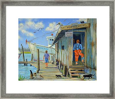 Framed Print featuring the painting Free Cats Ll by Dwain Ray