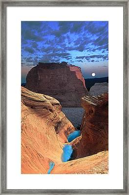 Free Climbing Glen Canyon Framed Print by Ric Soulen