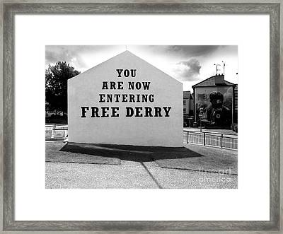 Free Derry Corner Framed Print by Nina Ficur Feenan