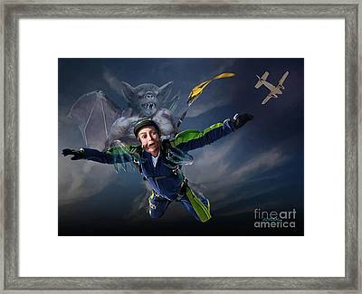 Free Fall Into Darkness Framed Print by Joseph Juvenal