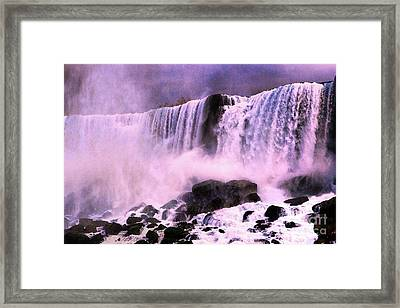 Free Falls Oil Effect Image Framed Print