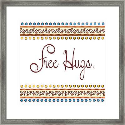 Free Hugs Framed Print by Liesl Marelli